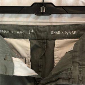 GAP Pants - GAP broken-in straight Khakis sz 14